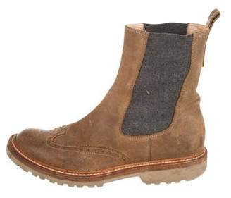 Brunello Cucinelli Distressed Leather Boots