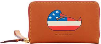 Dooney & Bourke Duck Florentine Patriotic Zip Around Phone Wristlet