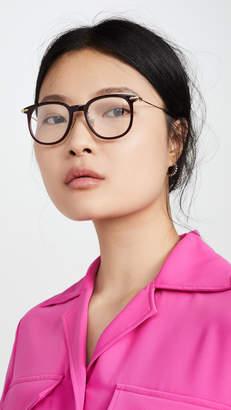 Linda Farrow Luxe Linear Optical Oversized Wayfarer Glasses