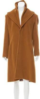 Jean Paul Gaultier Angora & Wool Knee-Length Coat