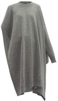 Maison Margiela Single Sleeve Wool Poncho - Womens - Grey