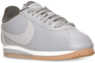 Nike Women's Cortez Leather Lux Casual Sneakers from Finish Line $89.99 thestylecure.com