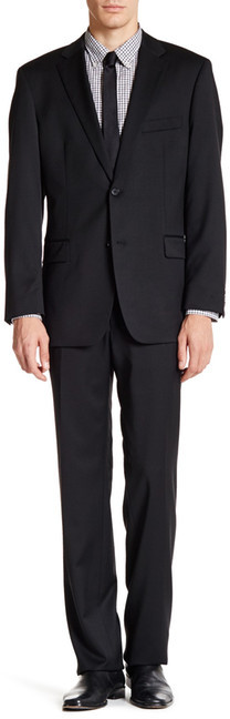 Hugo BossHUGO BOSS Two Button Notch Lapel Wool Suit