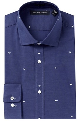 Tommy Hilfiger Sunglasses Print Slim Fit Dress Shirt $55 thestylecure.com