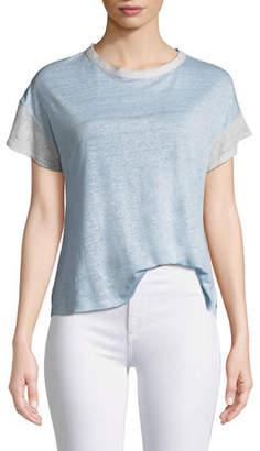 Rag & Bone Payton Short-Sleeve Linen Tee