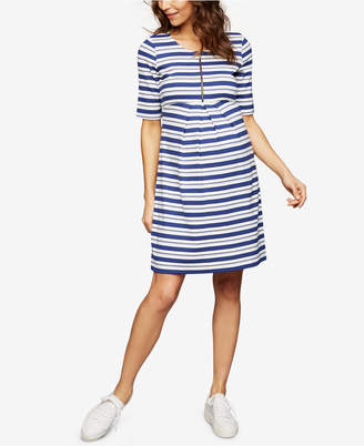 Isabella Oliver Maternity Striped Dress