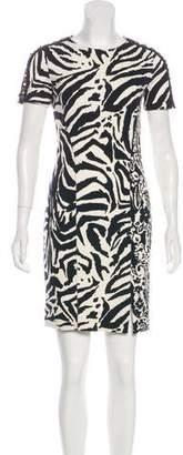Blumarine Wool-Blend Patterned Dress