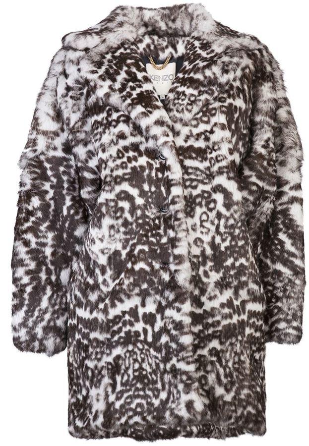 Kenzo oversize fur coat