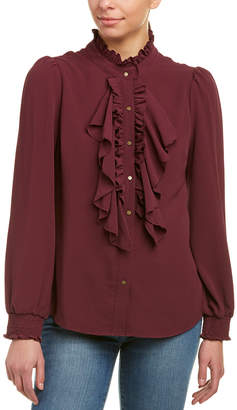 Ella Moss Ruffled Collar Blouse