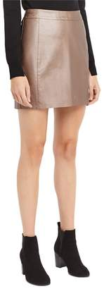 Oasis - Bronze Faux Leather Metallic Skirt