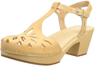 Swedish Hasbeens Women's Lacy Platform Sandal,/Nature