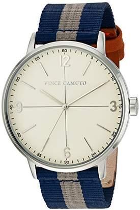 Vince Camuto Men's VC/1088BLSV Blue and Grey Striped Nylon Strap Watch