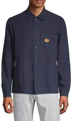 Patched Button-Down Shirt