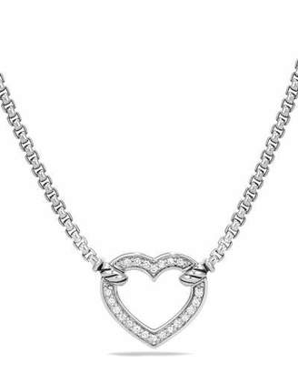 David Yurman Valentine Hearts Diamond Station Necklace $595 thestylecure.com