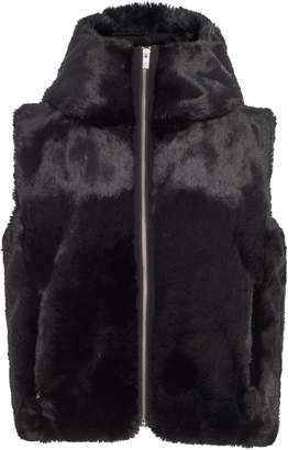 Fusalp Hooded Cropped Fur Vest Size: 34