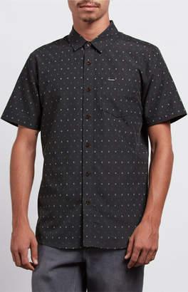 Volcom Frequency Dot Short Sleeve Button Up Shirt