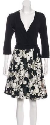 Diane von Furstenberg Jewel Emb Knee-Length Dress