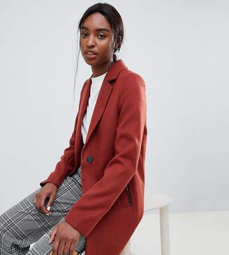 Asos Tall DESIGN Tall boyfriend coat with zip pocket