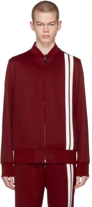 Red and White Striped Track Jacket