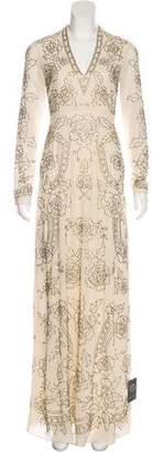 Needle & Thread Embellished Long Sleeve Gown w/ Tags