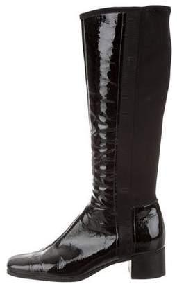 Prada Sport Square-Toe Knee-High Boots