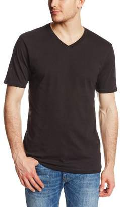 Fox Men's Uneven Short Sleeve V Neck Premium T-Shirt