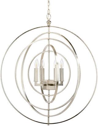 Chelsea House Globe 4-Light Chandelier - Nickel