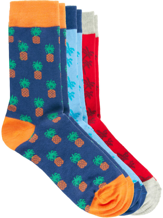 Asos 3 Pack Socks with Pineapple Print
