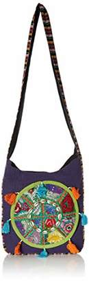 "Wild Hazel Handmade Durable Cotton Shoulder Bag Stripe Stylish Crossbody Women Men 12""x14"""