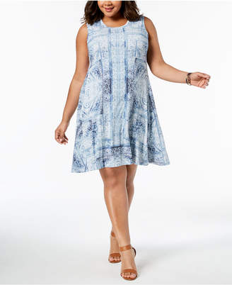 Style&Co. Style & Co Plus Size Printed Swing A-Line Dress, Created for Macy's