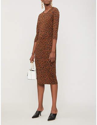 Diane von Furstenberg Sailhana leopard-print silk dress