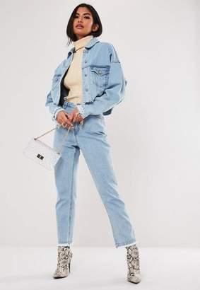 Missguided Light Blue Co Ord Wrath High Waisted Straight Leg Denim Jeans