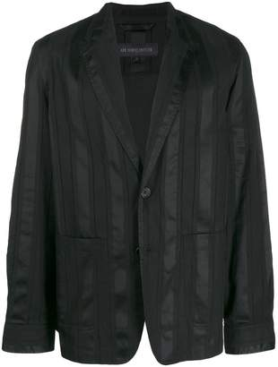 Ann Demeulemeester striped single-breasted blazer
