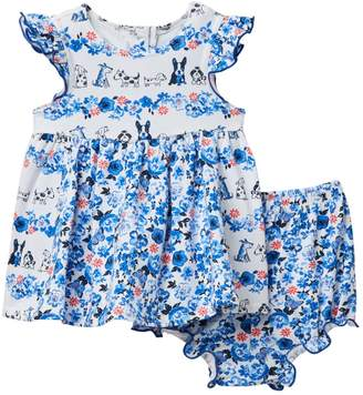 Pippa & Julie Puppies Value Dress & Bloomers Set (Baby Girls 12-24M)