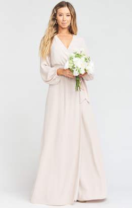 Show Me Your Mumu Lady Long Sleeve Wrap Dress ~ Show Me the Ring Crisp
