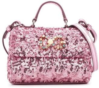 Dolce & Gabbana sequin foldover shoulder bag