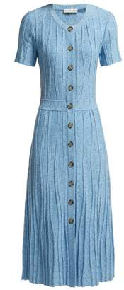Altuzarra Abelia Knitted Pleated Midi Dress - Womens - Blue