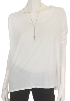 Beautiful People Oversize U-Neck Tee in White