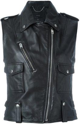 Diesel sleeveless biker jacket $496.87 thestylecure.com