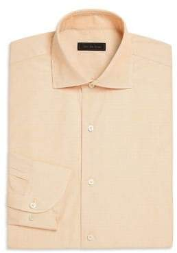 Saks Fifth Avenue COLLECTION Mini Check Dress Shirt