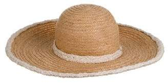 Chanel Straw Wide Brim Hat w/ Tags