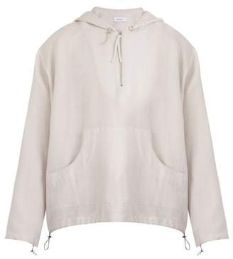 Fanmail Linen hooded sweatshirt