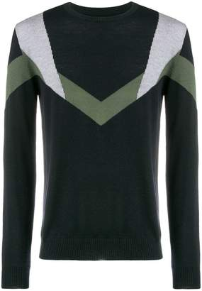 Les Hommes contrast knitted sweater