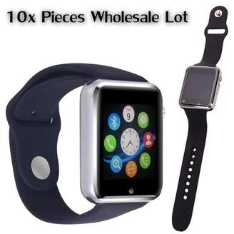 AmazingForLess 10 Pack G-10 Black Smart Watch Wholesale Lot Touch Screen Bluetooth Smart Wrist Watch - Supports SIM + Memory Card