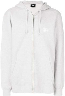 Stussy zipped hooded sweatshirt