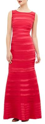 186c3cd9bbb6 Phase Eight Collection 8 Shannon Layered Mermaid Hem Sleeveless Floor  Length Dress, Bright Pink