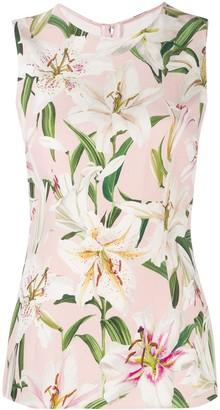 Dolce & Gabbana floral vest top