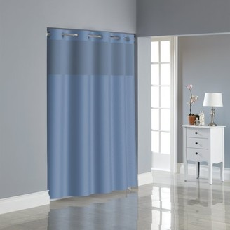 Generic Hookless Midnight Blue Dobby Texture Polyester Shower Curtain