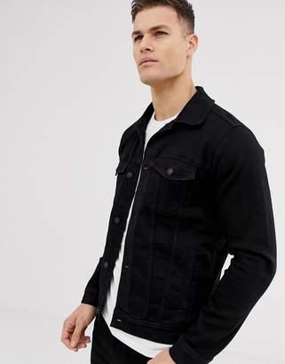 Hollister denim trucker jacket in black wash