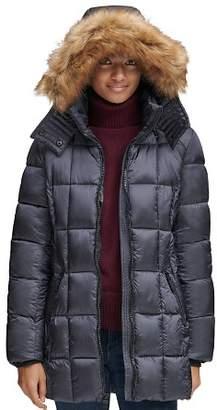 Andrew Marc Riverdale Faux Fur Trim Hooded Puffer Coat